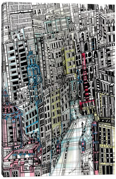 Urban New York Canvas Art Print