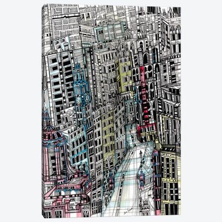 Urban New York Canvas Print #SSR94} by Maria Susarenko Canvas Art
