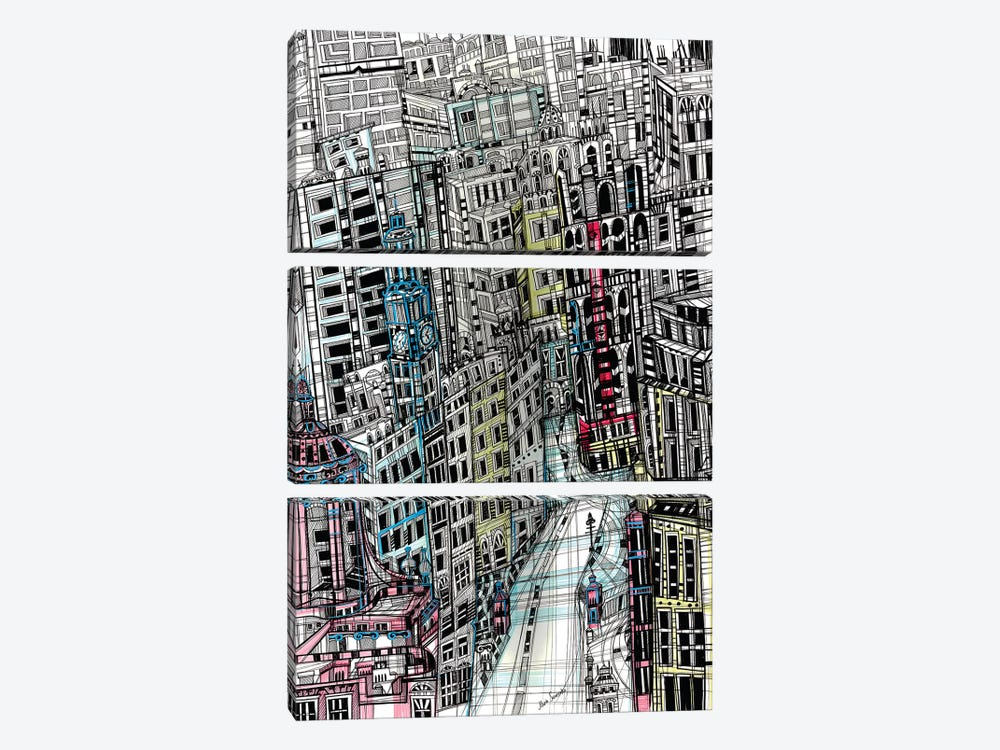 Urban New York by Maria Susarenko 3-piece Art Print