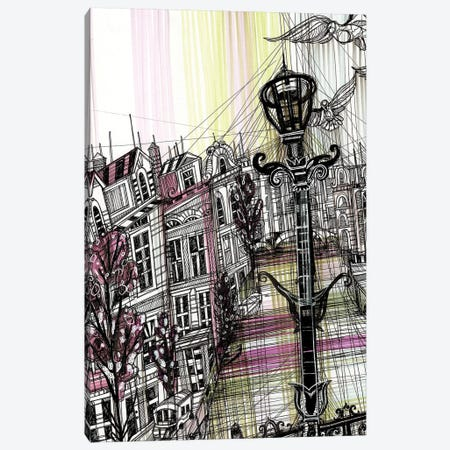 Amsterdam Umbrella Canvas Print #SSR9} by Maria Susarenko Canvas Art