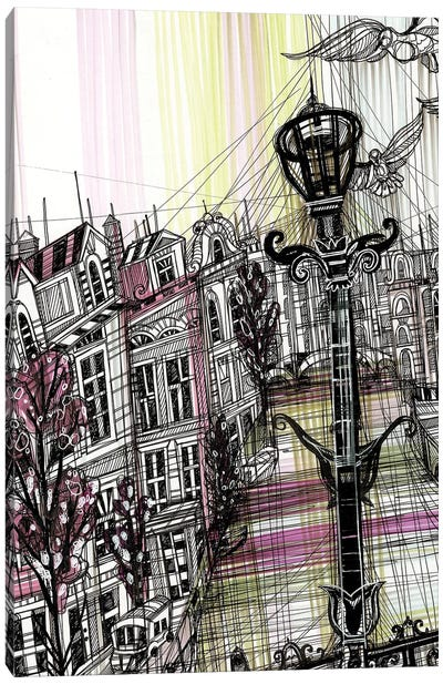 Amsterdam Umbrella Canvas Art Print