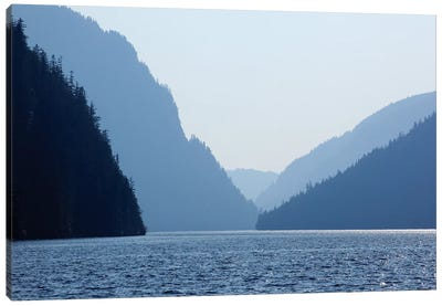 Majestic Landscape, Misty Fjords National Monument, Tongass National Forest, Alaska, USA Canvas Art Print