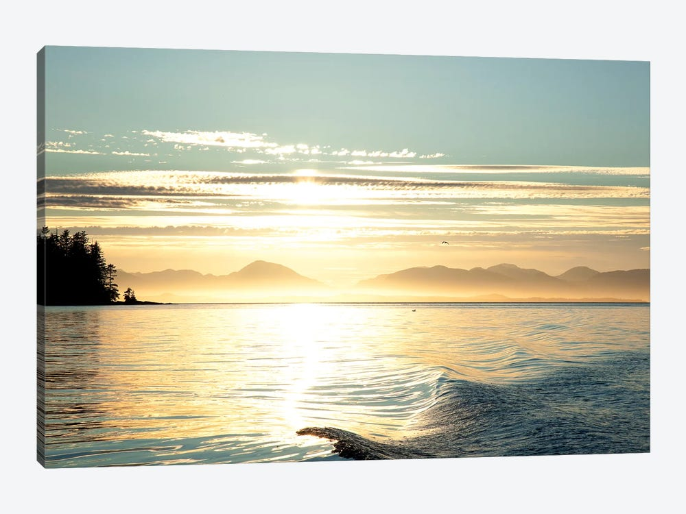Seascape Sunset, Alaska, USA by Savanah Stewart 1-piece Canvas Wall Art