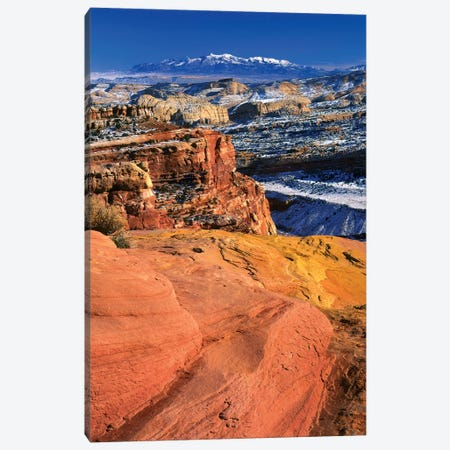 Winter Landscape, Capitol Reef National Park, Utah, USA Canvas Print #SST3} by Scott T. Smith Canvas Wall Art