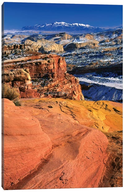 Winter Landscape, Capitol Reef National Park, Utah, USA Canvas Art Print