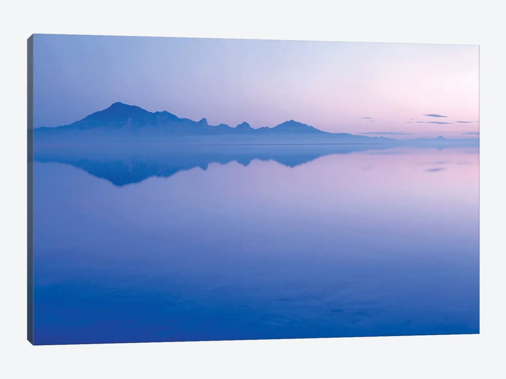 Silver Island Range And Its Reflection At Dawn, Bonneville Salt Flats, Tooele County, Utah, USA by Scott T. Smith 1-piece Canvas Artwork