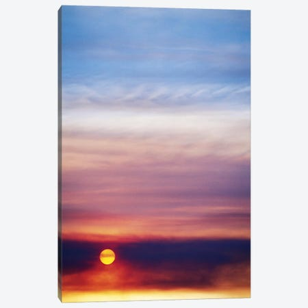 Colorful Cloudy Sunset Canvas Print #SST7} by Scott T. Smith Canvas Art Print
