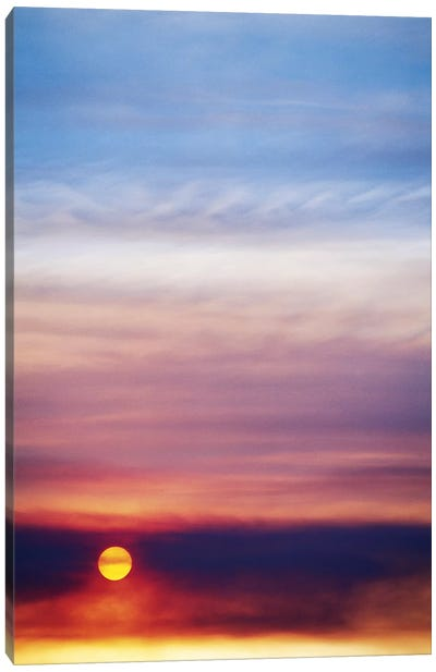Colorful Cloudy Sunset Canvas Art Print