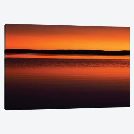 Tranquil Sunset, Yellowstone Lake, Yellowstone National Park, Wyoming, USA Canvas Print #SST8} by Scott T. Smith Canvas Wall Art