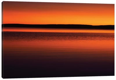 Tranquil Sunset, Yellowstone Lake, Yellowstone National Park, Wyoming, USA Canvas Art Print