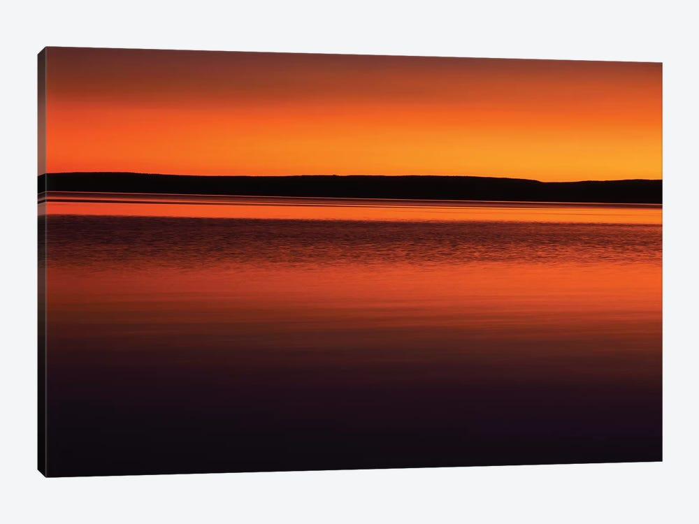 Tranquil Sunset, Yellowstone Lake, Yellowstone National Park, Wyoming, USA by Scott T. Smith 1-piece Canvas Artwork
