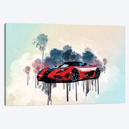 Koenigsegg Agera Hypercar 2016 Canvas Print #SSY103} by Sissy Angelastro Canvas Artwork
