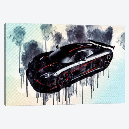 Koenigsegg Agera Rs Hypercar Supercar Tuning Agera New Sports Cars Canvas Print #SSY105} by Sissy Angelastro Canvas Print