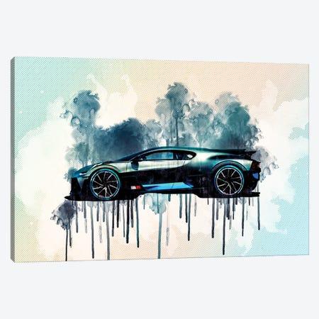 2019 Bugatti Divo Hypercar Side View Canvas Print #SSY10} by Sissy Angelastro Canvas Artwork
