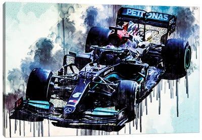 Lewis Hamilton 2021 Mercedes-Amg F1 W12 Mercedes-Amg Petronas Formula One Team British Racing Drivers Formula 1 Canvas Art Print