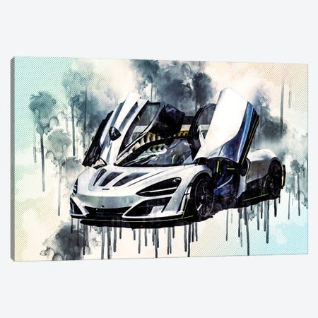 Mclaren 720S Mansory First Edition Luxury Hypercar Tuning 720S Supercar British Sports Cars Canvas Print #SSY131} by Sissy Angelastro Canvas Art Print