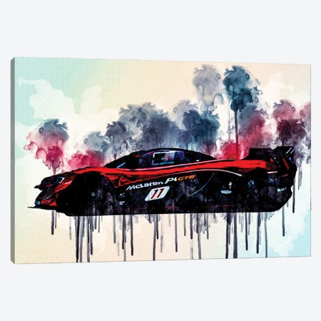 Mclaren P1 Gtr 2021 Side View Exterior Hypercar Tuning P1 British Sports Cars Canvas Print #SSY135} by Sissy Angelastro Canvas Wall Art