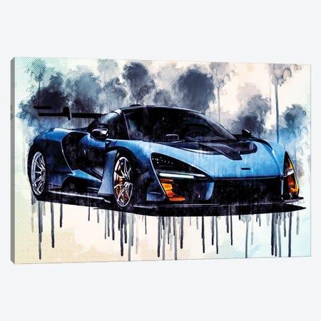 Mclaren Senna 2018 P15 Supercar Racing Car Hypercar Canvas Print #SSY136} by Sissy Angelastro Canvas Artwork