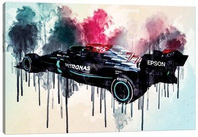Mercedes-Amg F1 W12 E Performance 2021 Rear View Exterior F1 2021 Race Cars Formula 1 Canvas Art Print