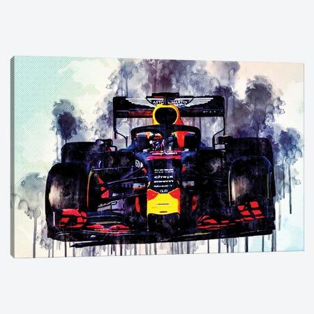Pierre Gasly Red Bull Rb15 Raceway 2019 F1 Cars Formula 1 Aston Martin Red Bull Canvas Print #SSY157} by Sissy Angelastro Canvas Wall Art