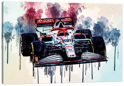 Robert Kubica Alfa Romeo Racing C41 On Track Raceway Formula 1 2021 F1 Cars Sportscars Canvas Art Print