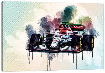 Robert Kubica Raceway Alfa Romeo Racing C41 On Track Formula 1 2021 F1 Cars Sportscars Canvas Art Print