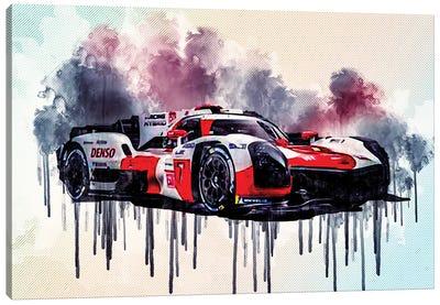 Toyota Gr010 Hybrid 2021 Le Mans Hypercar Lmh Race Cars Gazoo Racing Japanese Sports Cars Canvas Art Print