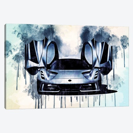 2020 Lotus Evija Electric Hypercar Exterior Front View Canvas Print #SSY18} by Sissy Angelastro Canvas Art
