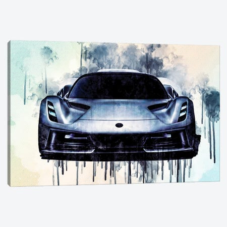 2020 Lotus Evija Front View Hypercar Canvas Print #SSY19} by Sissy Angelastro Canvas Art