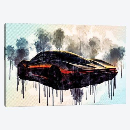 2020 Mclaren Speedtail Exterior Rear View Hypercar Canvas Print #SSY20} by Sissy Angelastro Canvas Art Print