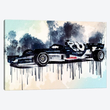 2021 Alphatauri AT02 Formula 1 Car Canvas Print #SSY23} by Sissy Angelastro Canvas Art Print