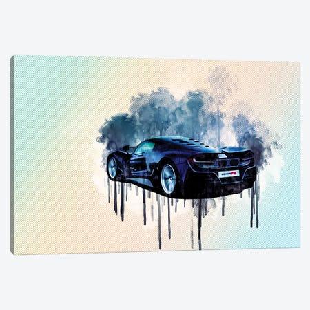 2021 Hennessey Venom F5 Rear View Hypercar Canvas Print #SSY30} by Sissy Angelastro Canvas Artwork
