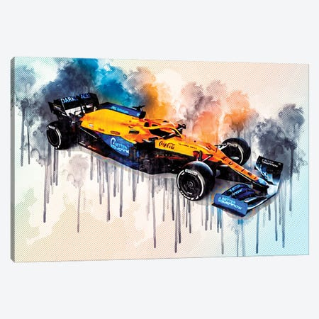 2021 Mclaren MCL35M Exterior Front View Canvas Print #SSY31} by Sissy Angelastro Canvas Art