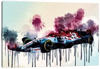 Alfa Romeo C39 Side View 2020 F1 Cars Studio Formula 1 Canvas Art Print