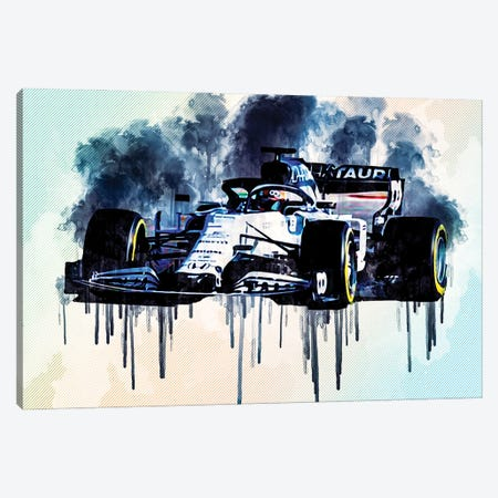 Alphatauri AT01 On Track 2020 F1 Cars Formula 1 Canvas Print #SSY36} by Sissy Angelastro Canvas Print
