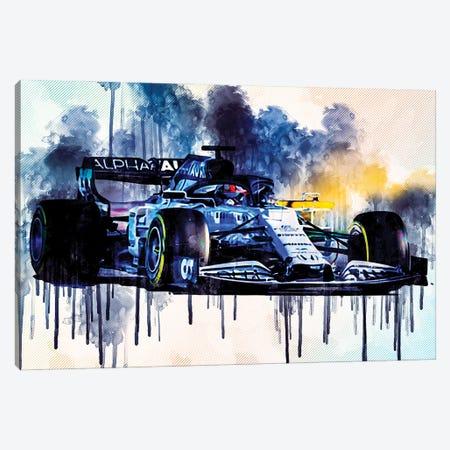 Alphatauri AT01 F1 Cars Formula 1 Scuderia Honda Canvas Print #SSY37} by Sissy Angelastro Canvas Print