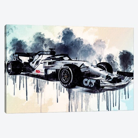 Alphatauri AT01 Cars Formula 1 Scuderia Alphatauri F1 Cars Scuderia Honda Canvas Print #SSY38} by Sissy Angelastro Canvas Artwork