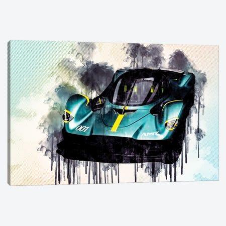 Aston Martin Valkyrie 2019 Hypercar Canvas Print #SSY47} by Sissy Angelastro Canvas Wall Art