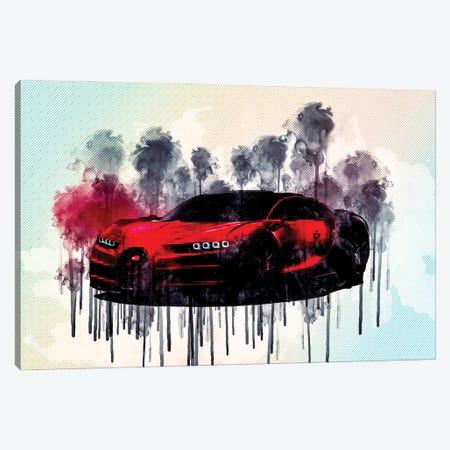 Bugatti Chiron Sport 2019 Hypercar Tuning Canvas Print #SSY73} by Sissy Angelastro Canvas Art