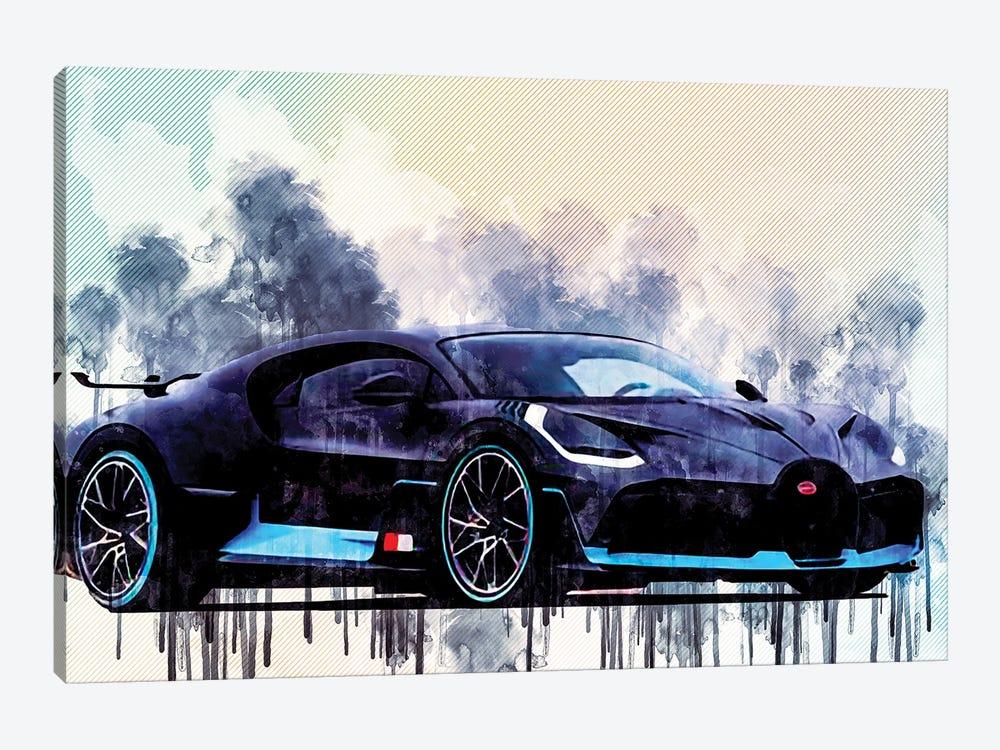 Bugatti Divo 2018 Supercar Hypercar by Sissy Angelastro 1-piece Canvas Artwork