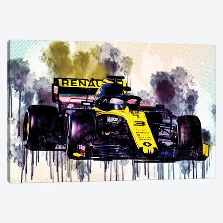 Daniel Ricciardo Renault Rs19 Raceway 2019 F1 Cars Formula 1 Canvas Print #SSY85} by Sissy Angelastro Canvas Wall Art