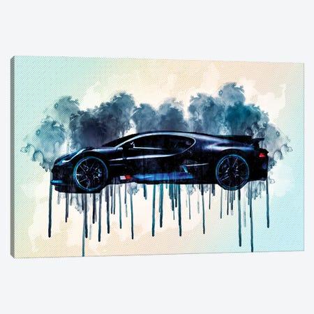 2019 Bugatti Divo Luxury Hypercar Canvas Print #SSY8} by Sissy Angelastro Canvas Print