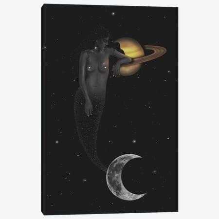 Space Mermaid Canvas Print #SSZ18} by Stephanie Sanchez Canvas Art Print