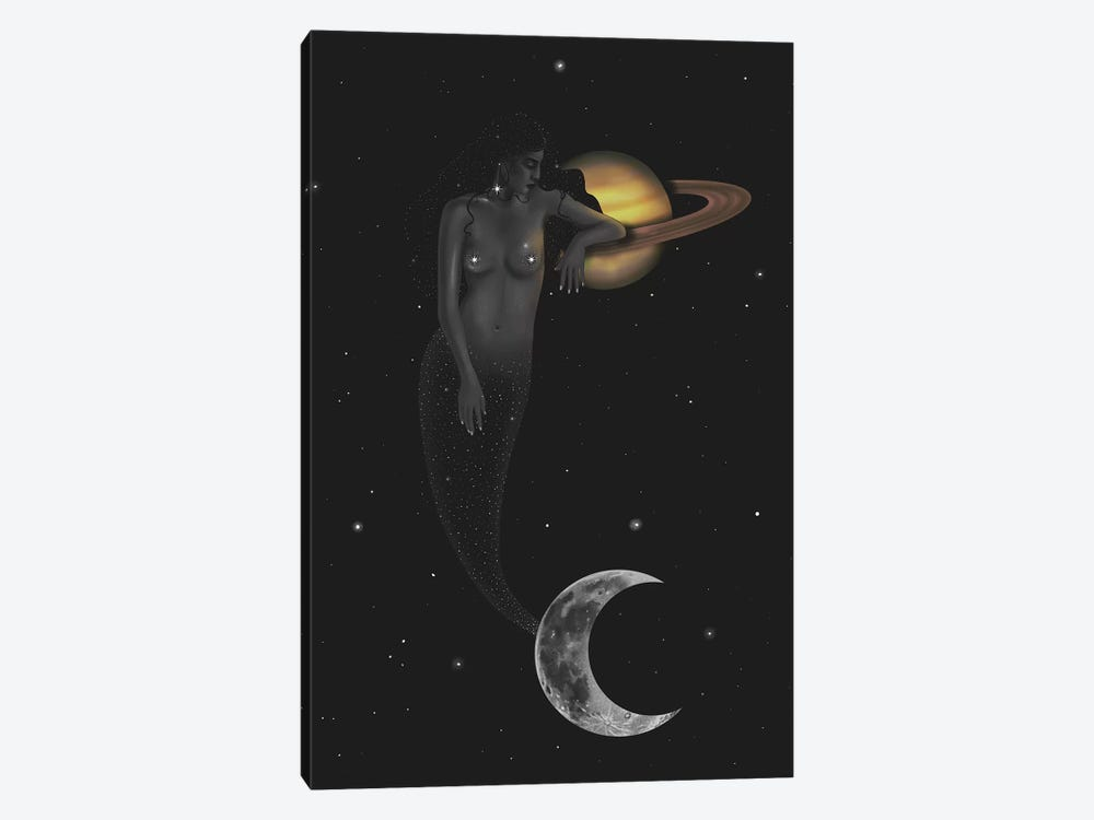 Space Mermaid by Stephanie Sanchez 1-piece Canvas Art