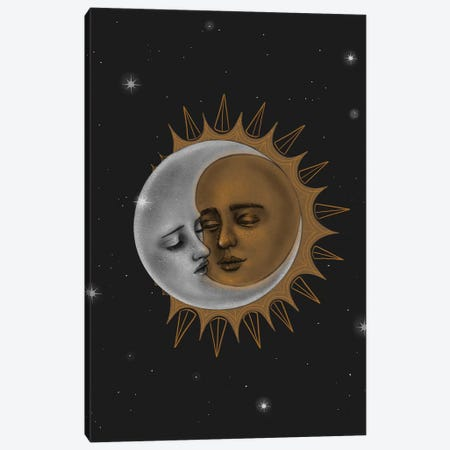 Sun And Moon Canvas Print #SSZ20} by Stephanie Sanchez Canvas Art