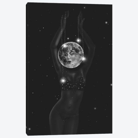 The Dancing Moon Canvas Print #SSZ21} by Stephanie Sanchez Canvas Artwork