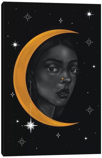 Lady Of The Moon ll Canvas Art Print