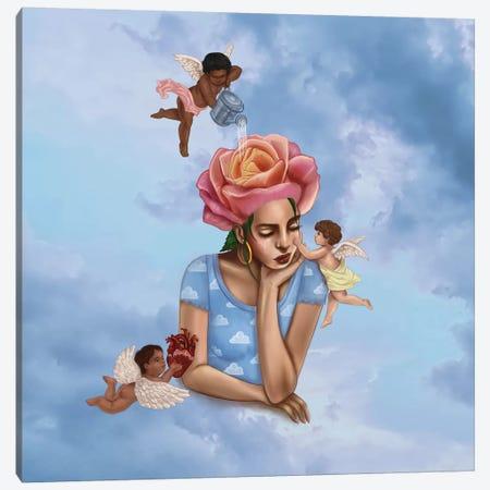 Self-Care Cherubs Canvas Print #SSZ31} by Stephanie Sanchez Canvas Print