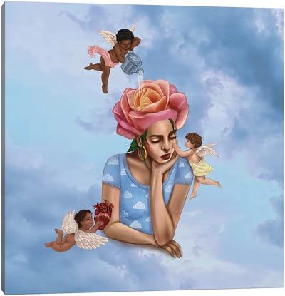 Self-Care Cherubs Canvas Art Print