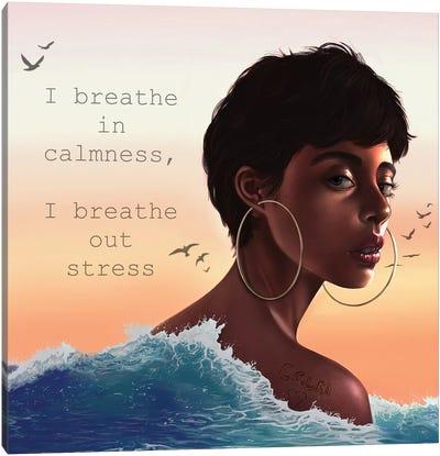 Calm Affirmation Canvas Art Print